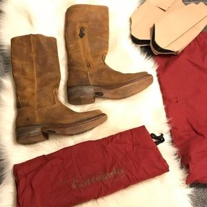 Ariat Brown Leather Square Toe Boots Size 6